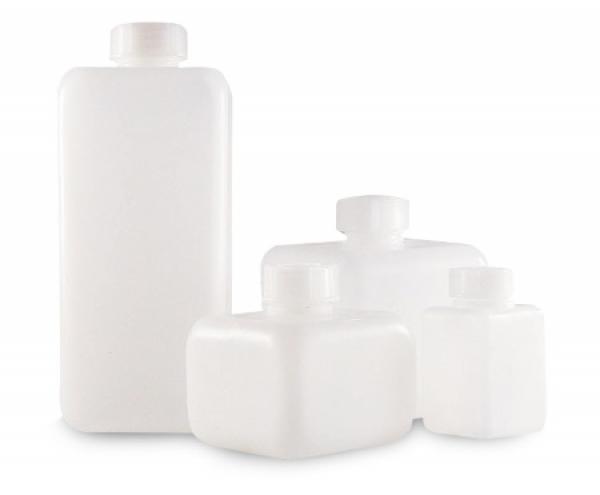 vierkantflasche hdpe enghals 100 ml mit schraubverschluss gl 25 laborshop24 schnell und. Black Bedroom Furniture Sets. Home Design Ideas